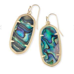 KENDRA SCOTT • Elle Abalone Goldtone Earrings
